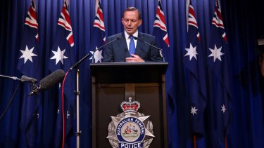 """There was a spike in reported anti-muslim incidents after former prime minister Tony Abbott made a national security statement in February 2015. """"I've often heard Western leaders describe Islam as a 'religion of peace'. I wish more Muslim leaders would say that more often, and mean it"""", he said."""