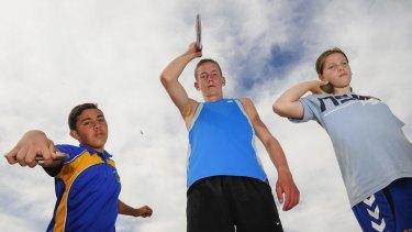 Taumasina Amon,13, of Michelago, Joseph Kremer,15, of Goulburn, and Kiarna Woolley-Blain,12, of Merimbula, will represent the ACT at the Australian Little Athletics Championships in Perth.