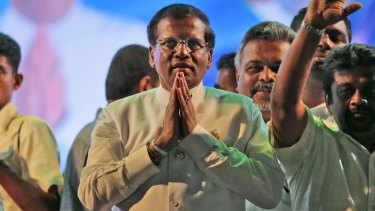 Sri Lanka's opposition presidential candidate Mithripala Sirisena.