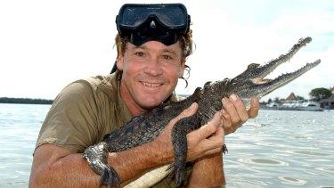 Steve Irwin starring in his Crocodile Hunter Diaries TV program.