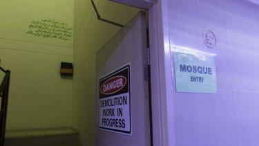 The entrance to Parramatta Mosque.