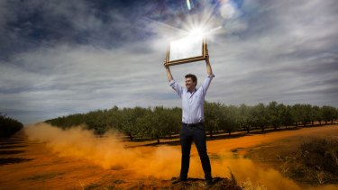 Phil Galloway, managing director of Syncline Energy, has big plans to bring solar energy to Bannerton in Victoria and the surrounding area.