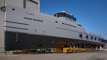 Sea Shepherd was able to specify engine size and other features for Ocean Warrior.