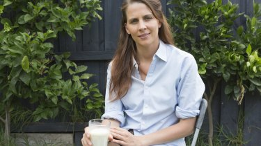 Nutritionist Arabella Forge drinks raw milk produced at her in-laws' dairy farm.