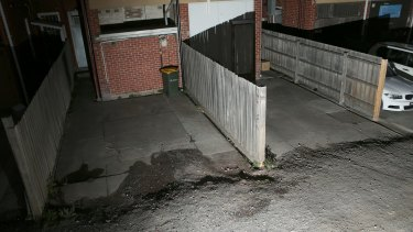 A laneway in Balaclava where Adrian Bayley took victims.