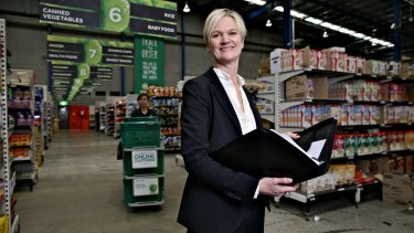 Speedy service: Woolworths' general manager of multi-channel retail Kate Langford says the store's layout ensures that customers' orders are processed quickly.