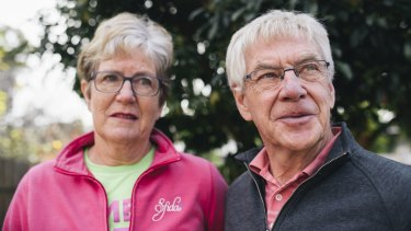 Phil and Helen Pellatt, of Scullin, have lost their age pension because of the government's new ''10 per cent cap''.