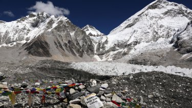 The man turned back from Everest base camp.