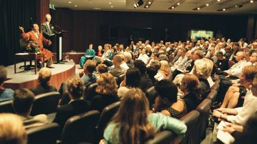 Sogyal Rinpoche lectures to a captivated audience in Sydney in 2011.