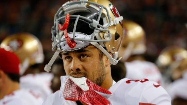 Looking on: Jarryd Hayne could change the way American football is watched in Australia