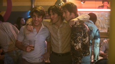 Temple Baker, Ryan Guzman and Blake Jenner in <i>Everybody Wants Some!!</i>