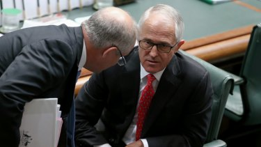 Treasurer Scott Morrison and Prime Minister Malcolm Turnbull.