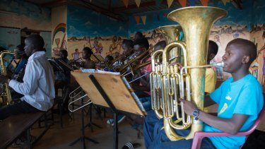 The orchestra practises at St Johns Church in Korogocho, a slum neighbourhood in Nairobi.