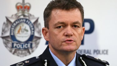 Australian Federal Police Commissioner Andrew Colvin.