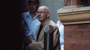 Roger Rogerson leaves Sydney's King Street Supreme Court in April 2016 after facing the court on murder charges.