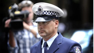 Sergeant Colin Dods at inquest into Tyler Cassidy's death in 2010.