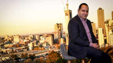 Simon Abdelmalak, director of Spec Property/ Samma Group at his CBD display suit.
