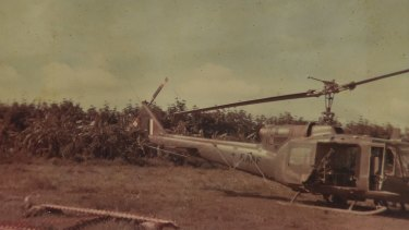 1966: a helicopter lands at Nui Dat, Australia's wartime base, some 30 kilometres inland from Vung Tau.