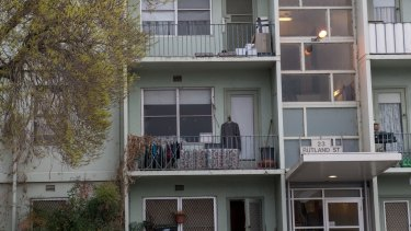 Housing commission flats in Clifton Hill.