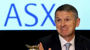 Newly appointed ASX boss Dominic Stevens returns to his office on Wednesday, having been overseas on the day of the outage.
