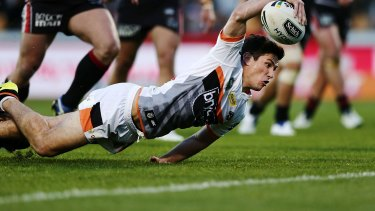 Speaking up: Mitchell Moses of the Tigers.