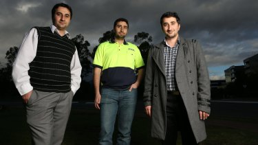 Sheikh Leghaei's three sons Sadegh, Ali and Reza. Their father was expelled from Australia as a suspected spy.
