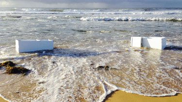 Fisher & Paykel fridges and shipping container were found washed up on Shelley Beach on the NSW Central Coast in 2014.