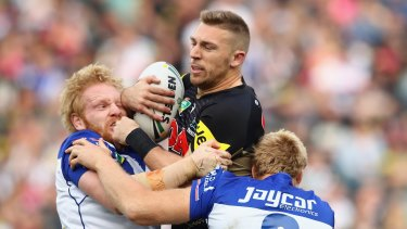 Injury cloud: Bryce Cartwright has been sent for more scans on his injured ankle.