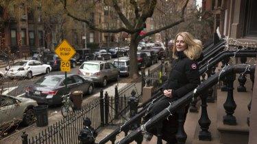 Australian author Anna Funder in Brooklyn's Park Slope neighbourhood.