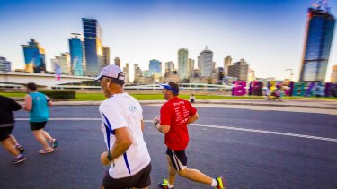 Action during the City2South charity fun run on Sunday.