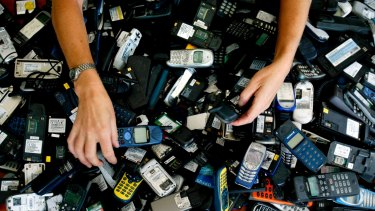 Recycled mobile phones are dismantled and their parts are used in the production of new devices and plastic fence posts.