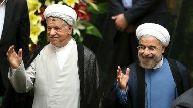 Iranian President Hassan Rouhani, right, and former president Ali Akbar Hashemi Rafsanjani in 2013.