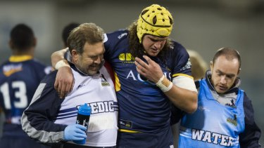 Ben Hyne's Super Rugby debut lasted just four minutes.