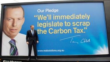 Tony Abbott's successful election pledge to scrap the carbon tax.
