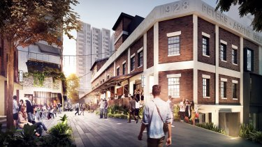An artists' impression of the plan for the $800 million West Village development at West End.