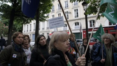 Feminist groups protests as two French government ministers and a top legislator stand accused of sexually harassing or abusing women.