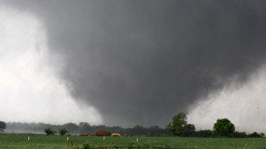 A tornado near Oklahoma City on May 20, 2013.