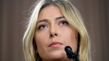 Banned: Maria Sharapova is absent from Wimbledon this year.