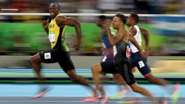 Competing in the men's 100- metre semifinal at the 2016 Olympics.