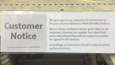 Coles has taken unprecedented action, blaming Arnotts and now Bellamy's Organic for price rises.