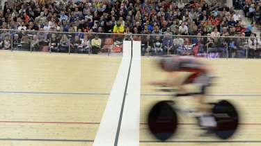 Australian cyclist Rohan Dennis rides to a new world hour record in Switzerland on Sunday.