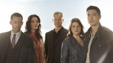 <i>Criminal Minds: Beyond Borders</i> stars Tyler James Williams as Russ, Alana De La Garza as Clara, Gary Sinise as Jack, Annie Funke as Mae and Daniel Henney as Matthew.