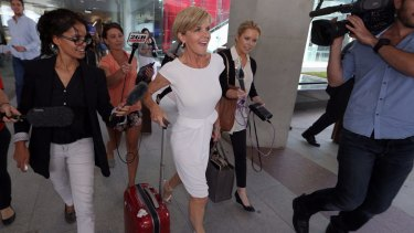 Julie Bishop at Canberra Airport earlier this year.