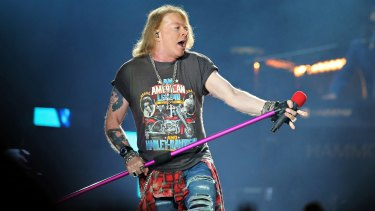 Guns N' Roses frontman Axl Rose worked the crowd into a frenzy.