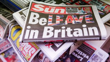 The Sun urged readers to vote to leave the EU:  Parochialism often fails us when the issues are global such as with some of the British media coverage of the Brexit vote.