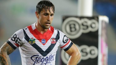 On the way out? Mitchell Pearce has lost his No.7 jersey at the Roosters.