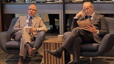 Bob Balaban and William Hurt in <I>Condor</I>.
