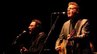 Glenn Frey singing during the Eagles 2016 tour of Australia.