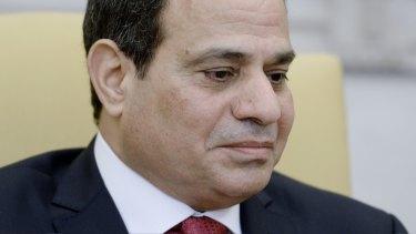 Egyptian President Abdel Fattah el-Sisi,.
