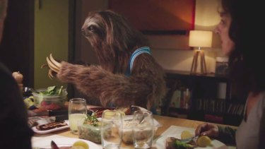 """Pass the salt"": A screen grab from the ""Stoner Sloth"" anti-marijuana campaign."